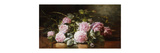 Rainwashed Roses Premium Giclee Print by Edward Chalmers		 Leavitt
