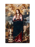 The Immaculate Conception Giclee Print by Juan Roelas