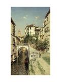 A Venetian Canal Scene Giclee Print by Rico y Ortega Martin