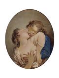 Jeunes amoureux Reproduction procédé giclée par Jean-Honoré Fragonard