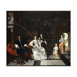 Group Portrait of the Jacott-Hoppesack Family Giclee Print by Pieter Hooch