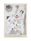 Dynamization of Houses P. Giclee Print by Paul Klee
