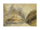 A Swiss Alpine Landscape Giclee Print by J. M. W. Turner