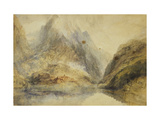 A Swiss Alpine Landscape Posters by Joseph Mallord William		 Turner