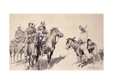 Mexican Gendarmes asking the Way Giclee Print by Frederic Sackrider Remington
