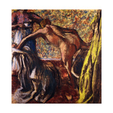 Breakfast after the Bath Print by Edgar Degas