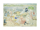 A Day at the Beach Giclee Print by Maurice Brazil Prendergast