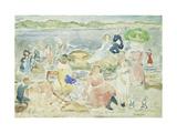 Un día en la playa Lámina giclée por Maurice Brazil Prendergast
