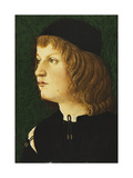 Portrait of a Youth, bust-length, in a Dark Cap Lámina giclée por  Florentine School