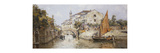 A Venetian Backwater Premium Giclee Print by Antonio Maria Reyna Manescau