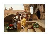 Young Venetian Vendors Giclee Print by Antonio Ermolao Paoletti