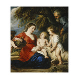 The Holy Family with the Infant Saint John the Baptist Giclee Print by Peter Paul Rubens