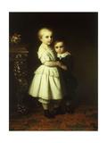 Sibling Love; Geschwisterliebe Giclee Print by Johan Georg Meyer