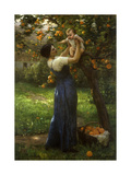 Mother and Child in an Orange Grove Impression giclée par Demont-Breton Virginie