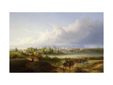 A View of Munich and the Isar River Art by Eugen		 Adam