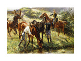 First Cavalry Regiment of Hunters Print by Leon Eugene Auguste		 Abry