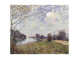 The Thames at Hampton Court, East Molesey Giclee Print by Alfred		 Sisley