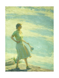 Walking on the Cliff Giclee Print by Charles Courtney Curran