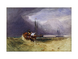 Fishing Boats Off Yarmouth Premium Giclee Print by John Sell		 Cotman