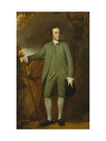 Portrait of George Morewood, in a Green Coat, Waistcoat and Breeches, Holding a Hat Giclee Print by George		 Romney