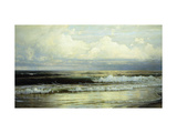Sunlit Clouds and Sea Print by William Trost		 Richards