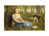 A Shepherdess and her Flock Giclee Print by John Macallan		 Swan
