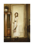 At the Doorway Giclee Print by Jules Alexis Muenier