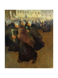 Night Procession in Brittany Giclee Print by Fernand		 Puigaudeau