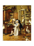 The Taxidermist Giclee Print by Francois		 Brunery