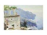 The Ravello Coastline Poster by Peder Mork Monsted