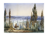 Constantinople from Eyub Prints by Amadeo		 Preziosi
