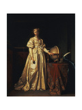 A Lady in an Interior, in a Yellow Satin Dress Giclee Print by Henri Nicolas Gorp
