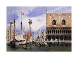 The Piazzetta di San Marco, Venice Posters by Carl Friedrich Heinrich Werner