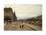 Early Morning Along the Seine Lámina giclée por Marie Francois		 Firmin-Girard