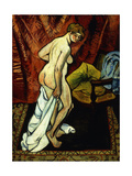 Standing Nude with Towel Giclee Print by Suzanne		 Valadon