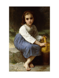 Young Girl with a Pitcher Giclee Print by William Adolphe Bouguereau