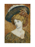 Woman with Hat Giclee Print by Georges		 Lemmen