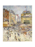 Bastille Day on Rue de Clignancourt, Paris Art by Gustave		 Loiseau