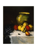 A Still Life with Apples and Grapes Giclee Print by Germain Theodore		 Ribot