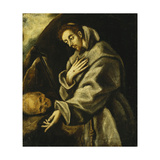 Saint Francis in Meditation Posters by  El Greco
