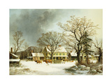 Seven Miles to Salem Giclee Print by George Henry		 Durrie