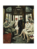 On the Tram Premium Giclee Print by Paul		 Fischer
