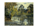 The Pond at Montfoucault Giclee Print by Camille Pissarro