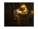 Lamplight Giclee Print by Jules Emile		 Crochet
