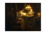 Lamplight Giclee Print by Jules Emile Crochet