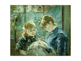 The Dressmaking Lesson Giclee Print by Berthe		 Morisot