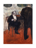 The Violinist Dancla Láminas por Henri Toulouse-Lautrec