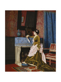 A Moments Reflection Art by Auguste Toulmouche