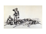 After the Battle Giclee Print by Frederic Sackrider Remington