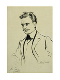 Portrait of the Composer Jean Sibelius, small half-length Giclee Print by Albert		 Edelfeldt